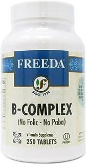 Freeda Kosher B Complex - No Folic No Paba - 250 Tablets