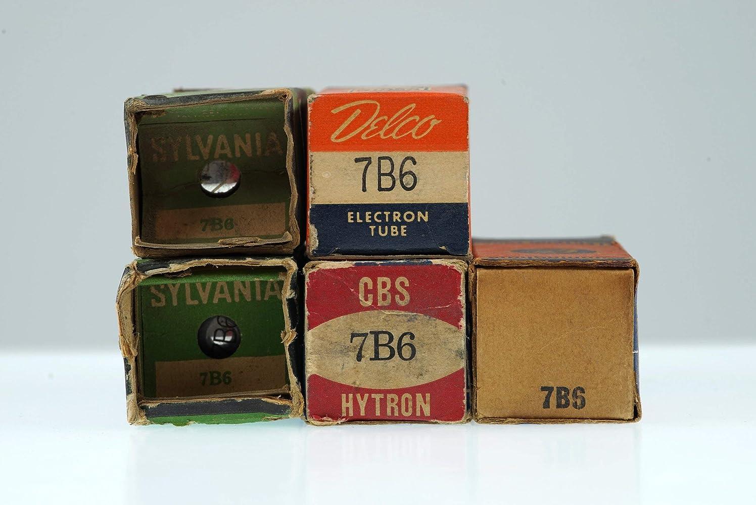 5 Vintage 7B6 Loctal Twin Diode Triode Audio Frequency Radio/TV Valve - BangyBang Tubes