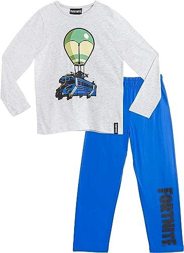 Fortnite Pijama Niño, Pijamas Niños con Diseño Battle Bus, Conjunto Niño Verano, Ropa Niño para Dormir, Regalos para ...