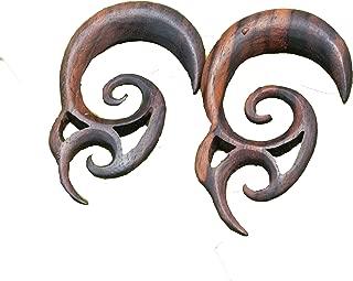 Bandaru Organics Double Spiral Sono Wood Hangers