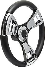 Seastar Armada SW60105P Steering Wheel, Armada 13-1/2 inch, Chrome Inserts, 3 Spoke Equidistant