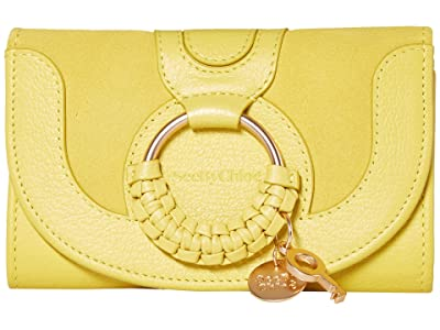 See by Chloe Hana Compact Wallet (Verdant Yellow) Handbags