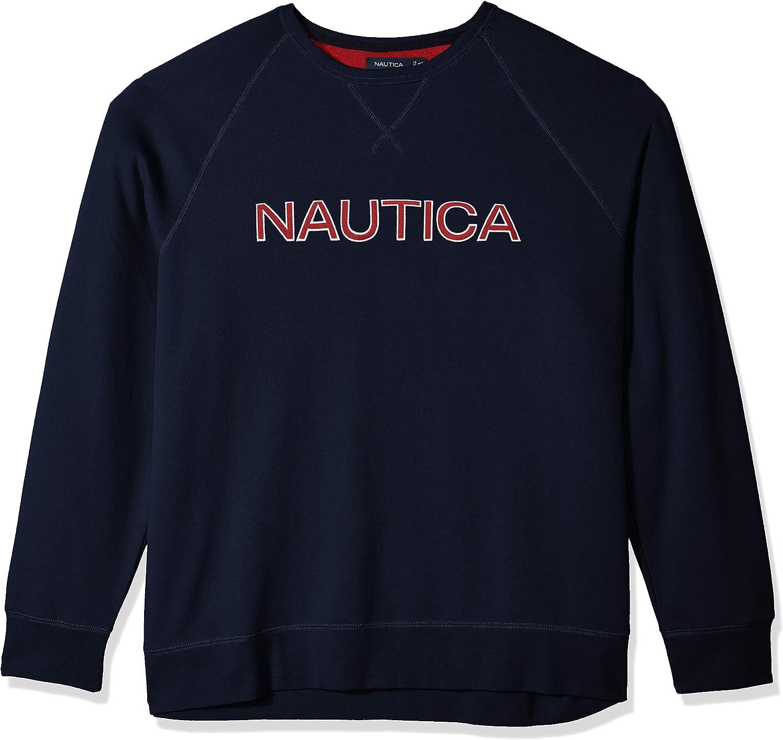 Nautica Mens Crew Neck Graphic Fleece Sweatshirt Sweatshirt
