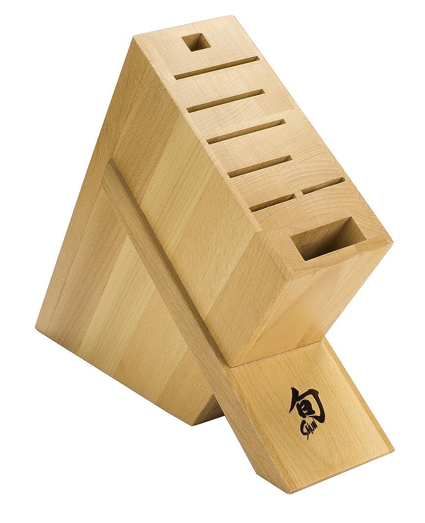 Shun DM0838 Kickstand Knife Block, 8-Slot, 3.1 x 9.1 x 11.1 inches, Brown