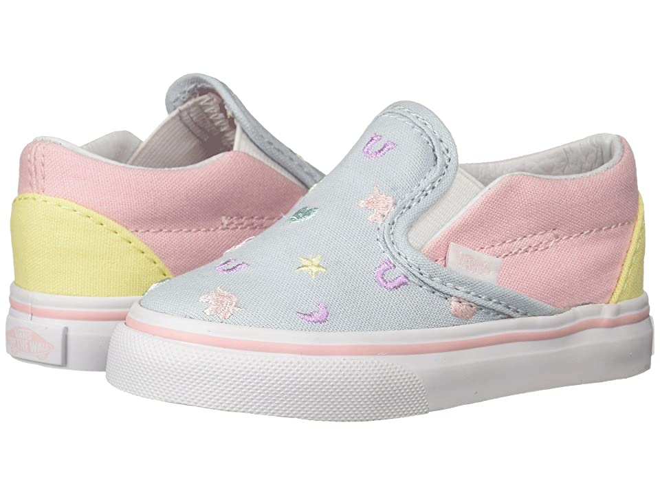Vans Kids Classic Slip-On (Infant/Toddler) ((Charms) Embroidery/Multi) Girls Shoes