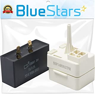 Ultra Durable W10613606 Refrigerator Compressor Start Relay and Capacitor by BlueStars- Exact Fit for Whirlpool KitchenAid Kenmore fridges - Replaces W10416065, PS8746522, 67003186
