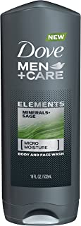 Dove Men+Care Elements Body and Face Wash, Minerals and Sage 18 oz