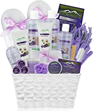 Premium Deluxe Bath & Body Gift Basket. Ultimate Large Spa Basket! #1 Spa Gift Basket for Women (Lavender Chamomile)
