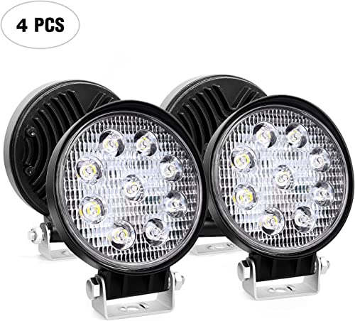 """lowest Led Light Bar Nilight 4PCS 4.5"""" 27w 3000LM Round Spot online Light Pod Off Road Fog online sale Driving Roof Bar Bumper for Jeep,SUV Truck , Hunters, 2 years Warranty outlet online sale"""