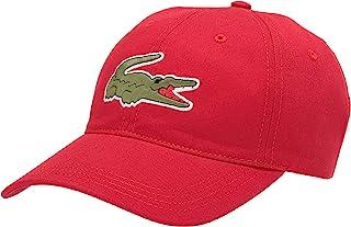 Lacoste Men's Big Croc Twill Adjustable Leather Strap Hat