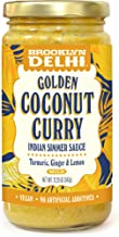 Brooklyn Delhi Golden Coconut Curry - Indian Simmer Sauce - Turmeric, Ginger, Lemon & Coriander, 12 Ounces, Mild, Vegan, No Artificial Additives