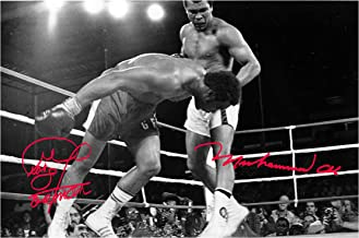 Good With Wood Yorkshire Rumble in The Jungle 30 October 1974 Ali & Foreman 1 Reproduction Autograph photogragh Picture Poster A4 Print(Unframed)