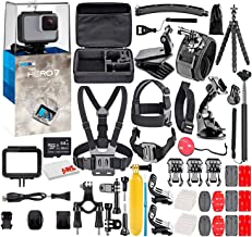 $189 » GoPro HERO7 White - Waterproof Action Camera with Touch Screen, Full HD Video, 10MP Photos, and Stabilization - with 64GB Micro Sd Card and 50 Piece Accessory Kit - Fully Loaded Bundle (Renewed)