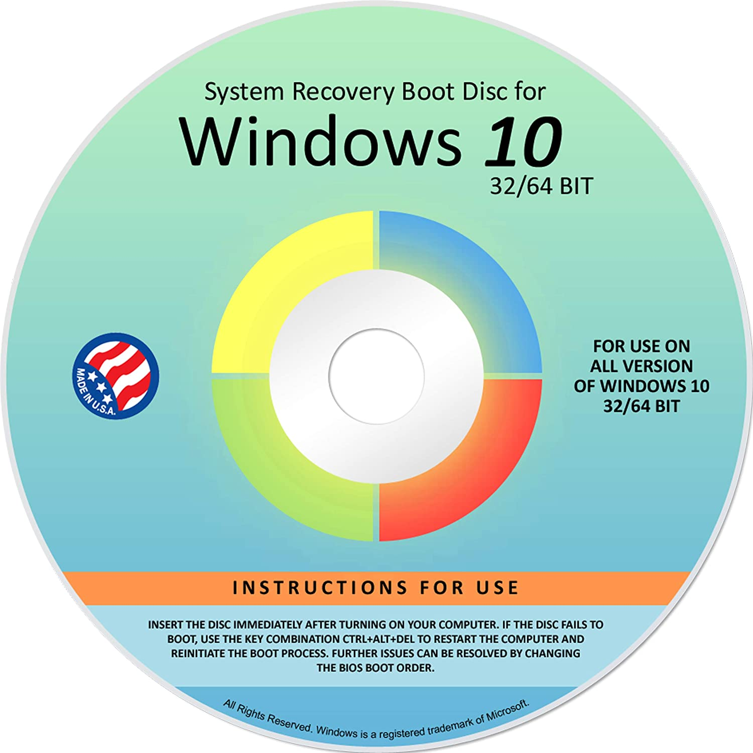 Same day shipping Ralix Reinstall DVD For Windows 10 Excellence Versions bit. Recov All 64 32