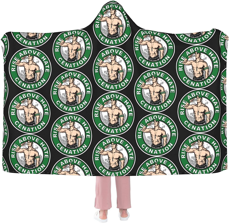 John Cena Never Give Up free Hooded Fleece Bl Warm Blanket Soft Long-awaited Throw