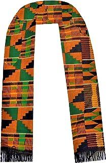 Handmade Cotton African Scarf Kente Cloth Men Scarves Women Graduation Stole Girl Choir Boy Sash Decora Apparel