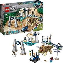 LEGO Jurassic World - Caos del Triceratops Juguete de construcción de Dinosaurios Inspirado en las Películas de Jurassic World, Novedad 2019 (75937)