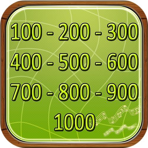 Die Zahlen in Englisch 100-1000