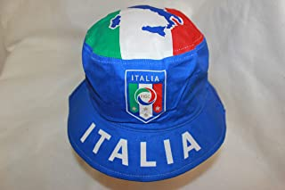 ITALIA blue country flag ADULT bucket hat cap fifa world cup size 7 3/8 New