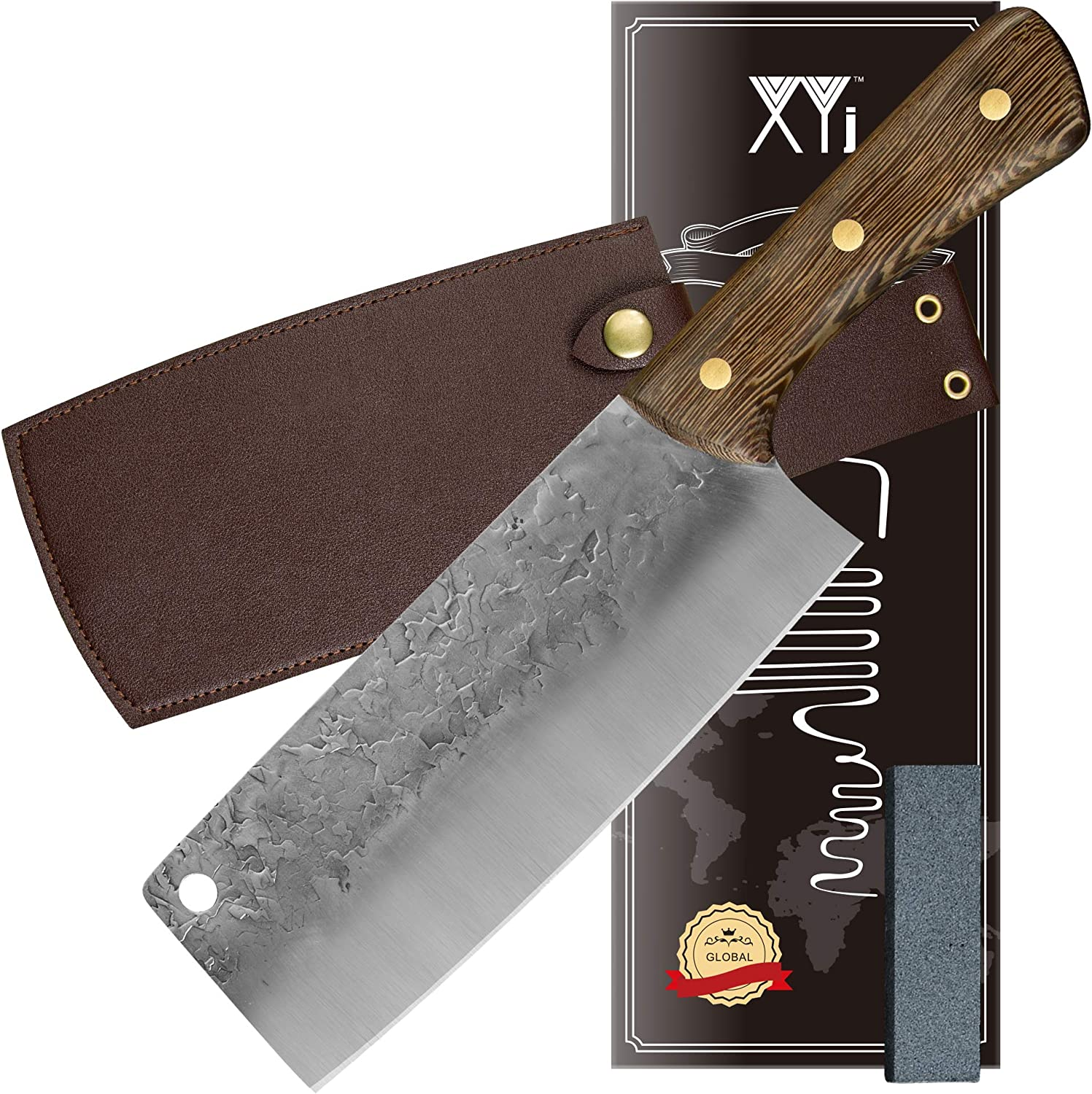 XYJ FULL TANG New Free Shipping Kitchen Max 51% OFF Chef Knives S Cleaver Vegetable Meat 5Cr15
