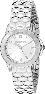 ROBERTO CAVALLI Women's Swiss Quartz Watch with Stainless Steel Strap, Silver, 14 (Model: RV1L049M0066)