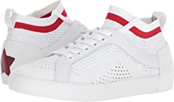 White/Red Knit/Nappa Calf