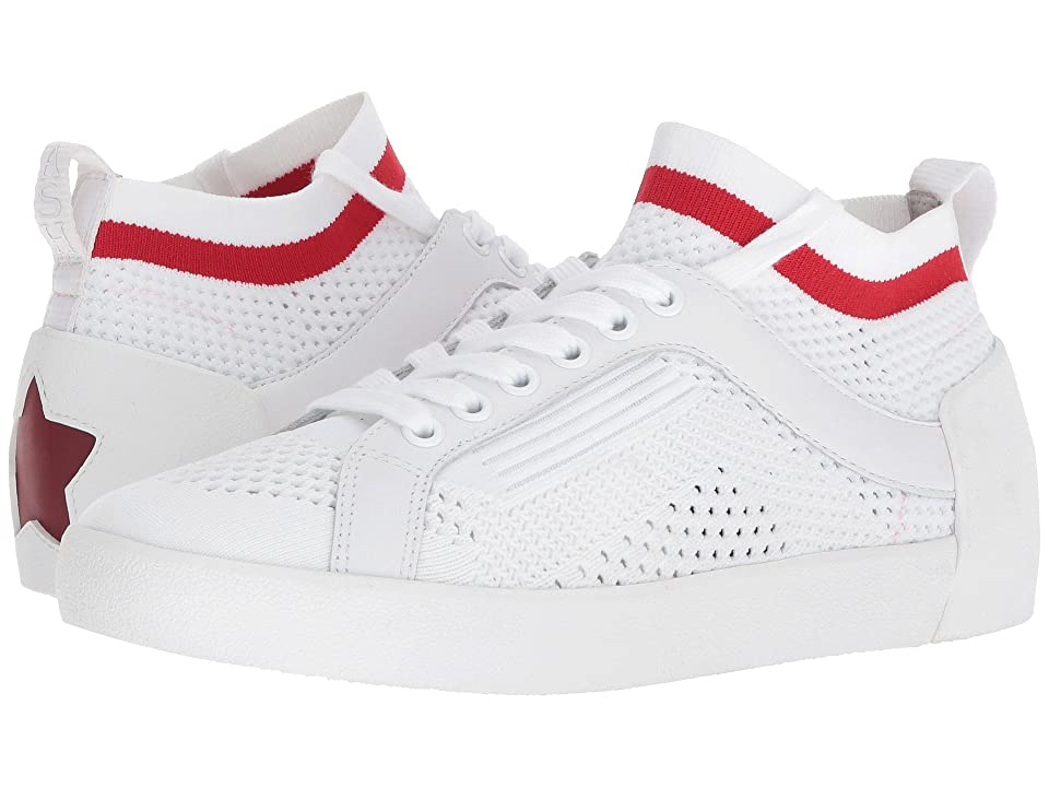 ASH Nolita (White/Red Knit/Nappa Calf) Women