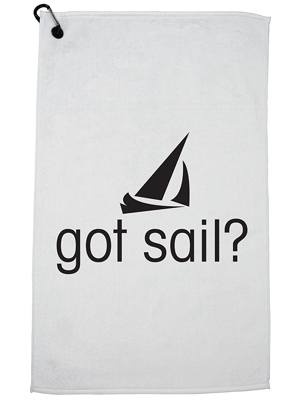 Hollywood Thread Hilarious Iconic Got Sail? Graphic Design Golf Towel with Carabiner Clip