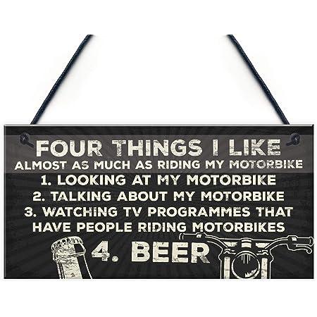 Printed Metal Wall Sign Plaque Custom Name Medium Sticky Pads Personalised Motorbike Garage