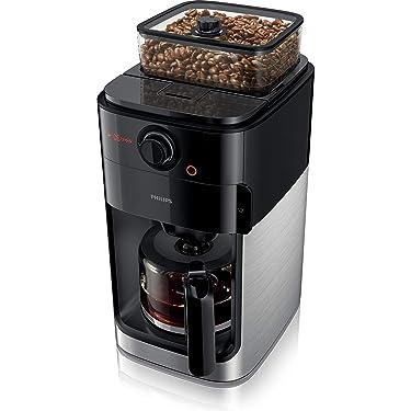 Philips HD7767/00 Grind und Brew Filter Kaffeemaschine, Kunststoff, 1.2 liters, Edelstahl/Schwarz