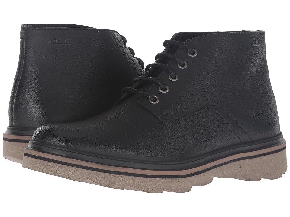 Clarks Frelan Hike (Black Leather) Men