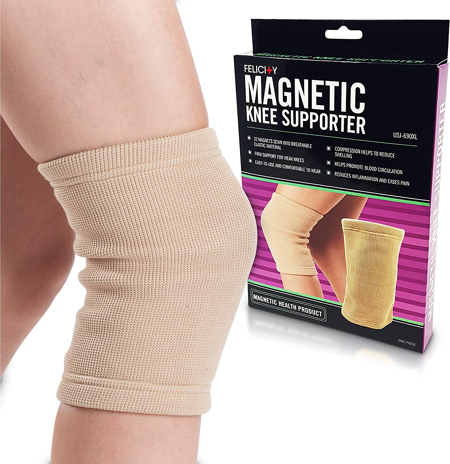 U.S. quality assurance Jaclean Felicity USJ-690 Magnetic Max 60% OFF Supporter Knee f Support