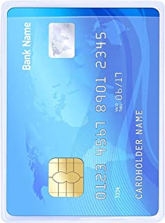 flying CLOUDS 100 Pcs Plastic Credit Card, Debit Card, Id Card Holder Protector Sleeve Cover (Transparent)