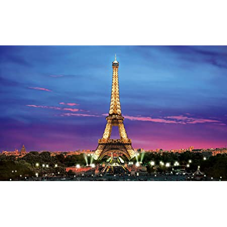 CdHBH 7x5FT Vinyl Photography Background Paris Eiffel Tower River Scenes of Modern Life Top View Scenery Outdoors Children Kids Adults Portraits Backdrop Aerial Landscape Photo Studio Props