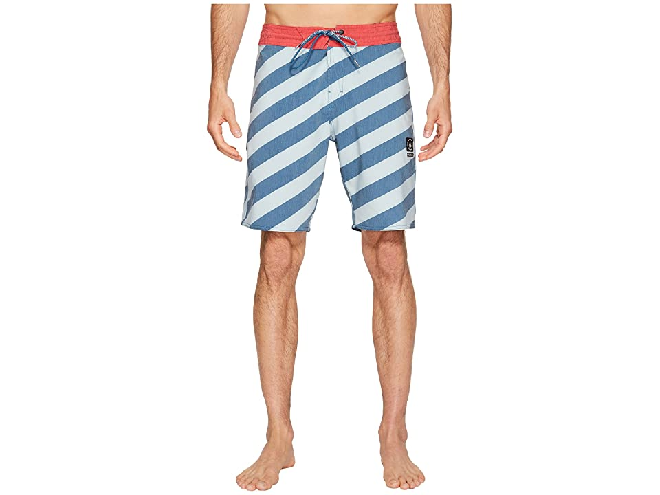Volcom Stripey Slinger 19 Boardshorts (Flight Blue) Men