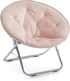 Urban Shop Micromink Saucer Chair, Blush