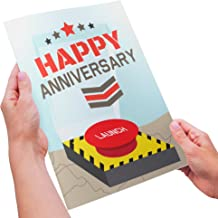 Dirty Humor - Funny Anniversary Card For Him - Launch the Love Missile , Invade Me With Your Weapon of Mass Destruction - XL Size
