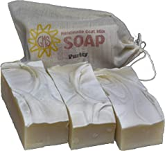 Goat Milk Soap - PURITY (Unscented). All-Natural, Handmade by Goat Milk Stuff. Bars 5 oz. each, 4 Count