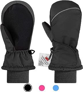 Kids Ski Mittens for Girls Boys, Children 3M Thinsulate Warm Winter Gloves Waterproof Sonw Outdoor Gloves 2-8Y