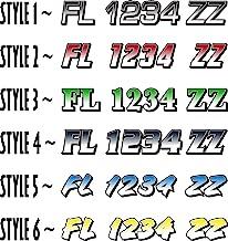 Boat Registration Numbers X2 GR / 2 Pack/Custom State Registration Stickers/Vinyl Boat Decal Graphics Pair Registration Nu...
