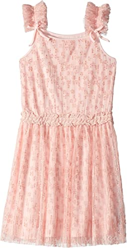 Flocked Mesh Dress (Big Kids)