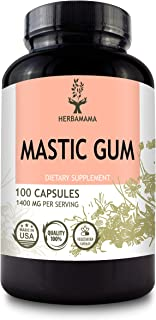 Mastic Gum 100 Capsules 1400 mg | Supports Digestive System | Promotes Circulatory Health