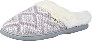 Dearfoams Women's Oversized Fairisle Knit Clog Slipper