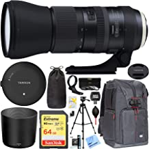 Tamron SP 150-600mm F/5-6.3 Di VC USD G2 Zoom Lens for Canon Mount SLR / DSLR - Includes Tamron Original Tap-In Console, Sandisk 64GB Class 10 SDXC Card and More