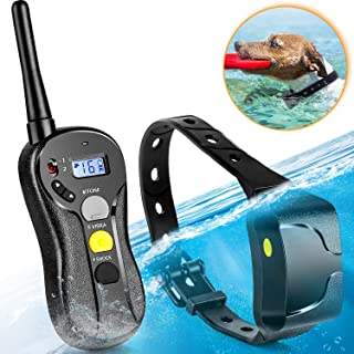 PATPET Shock Collar for Dogs - IPX7 Waterproof Dog Shock Collar with Remote IPX5 3000ft Range No Harm Dog Training Collar Fast Training Effect for Small Medium Large Dogs