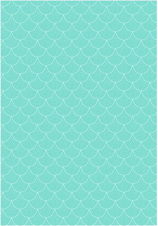 Ursus 17282206 Fotokarton Deluxe, 10 Blatt Karton 300 g qm ca. 48 x 67 cm, aus Frischzellulose, durchgefärbt, einseitig verotelt mit Glanzlack, Fischschuppen, türkis B07Q3GH2KS   Vollständige Spezifikation