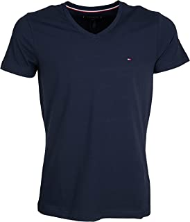 Tommy Hilfiger Mens Core Stretch Slim Vneck Tee T-Shirt (pack of 1)