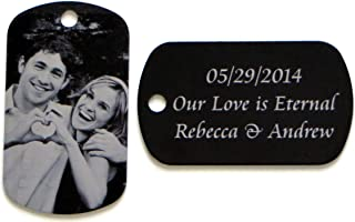 HALF PRICE SALE: Personalized Custom Photo Text Dog Tag Necklace Customized Picture Necklace Pendant