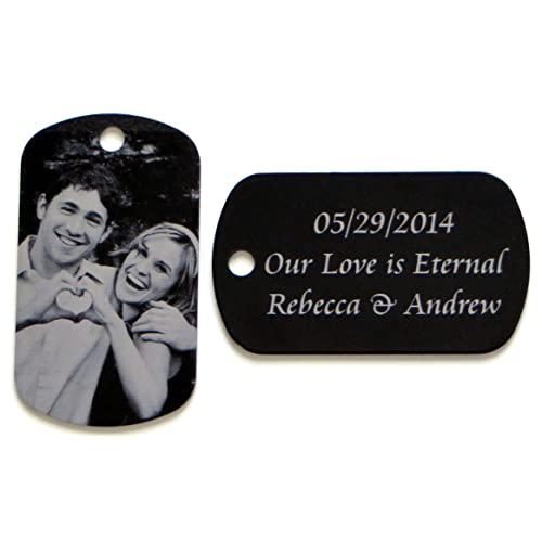 LazrArt Personalized custom engraved Photo Tag with Message pendant