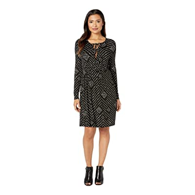 B Collection by Bobeau Galilea Surplice Dress (Black Nomadic Dot) Women